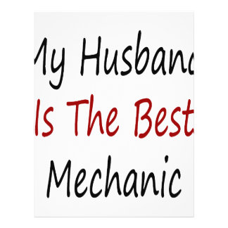 My Husband Is The Best Mechanic Flyer