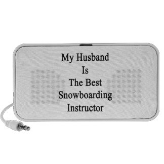 My Husband Is The Best Snowboarding Instructor Notebook Speakers