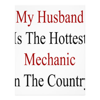 My Husband Is The Hottest Mechanic In The Country Flyer