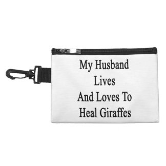 My Husband Lives And Loves To Heal Giraffes Accessories Bags