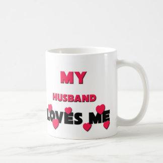 My Husband Loves Me Classic White Coffee Mug