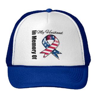 My Husband Memorial Patriotic Ribbon Trucker Hat