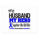 My Husband, My Hero Colon Cancer Postcard