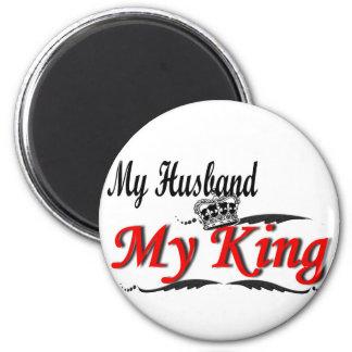 My Husband, My King Black & Red Magnet