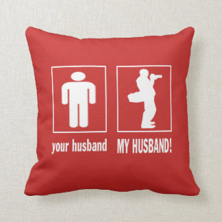 MY HUSBAND - PHOTOGRAPHER THROW PILLOW