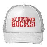 My Husband Rocks Mesh Hat