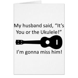 My Husband Said... Card