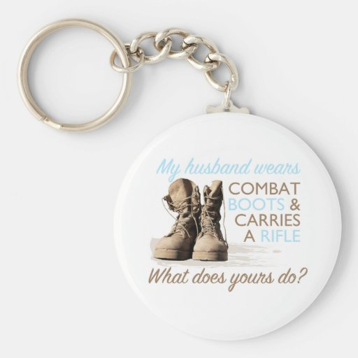 My Husband Wears Combat Boots Keychains