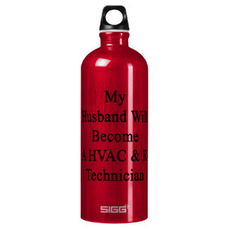 My Husband Will Become A HVAC & R Technician SIGG Traveler 1.0L Water Bottle
