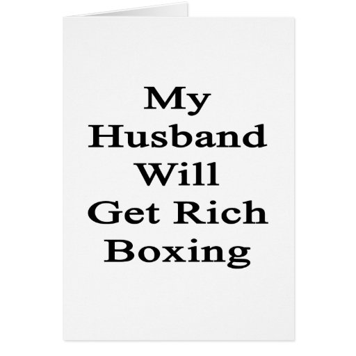My Husband Will Get Rich Boxing Stationery Note Card