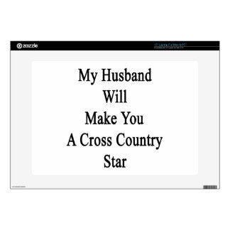 My Husband Will Make You A Cross Country Star Skin For Laptop