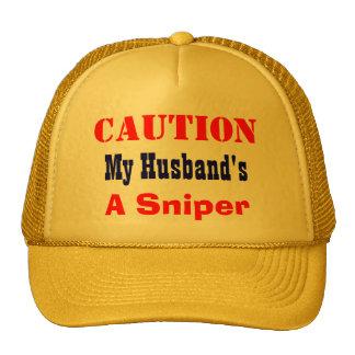 My husband's a sniper trucker hat