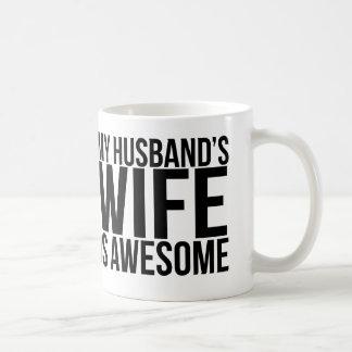 My Husband's Wife Is Awesome Mug