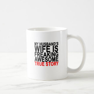 my husband's wife is freaking awesome tee shirt.pn coffee mug
