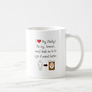 My Husky Loves Peanut Butter Coffee Mugs