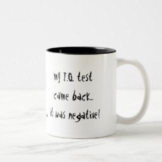 My I Q Test Two-Tone Coffee Mug