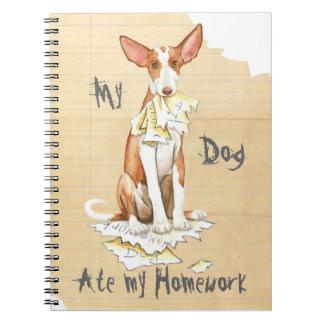 My Ibizan Hound Ate My Homework Notebook
