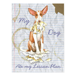 My Ibizan Hound Ate My Lesson Plan Postcard