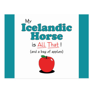 My Icelandic Horse is All That! Funny Horse Postcard