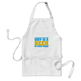 My Idea Of A Balanced Diet Is A Beer Adult Apron