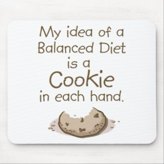 My idea of a balanced diet mouse pad