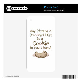 My idea of a balanced diet decal for iPhone 4S