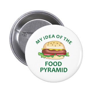 My Idea Of The Food Pyramid Pinback Button