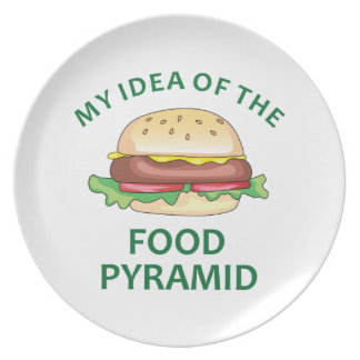 My Idea Of The Food Pyramid Party Plates