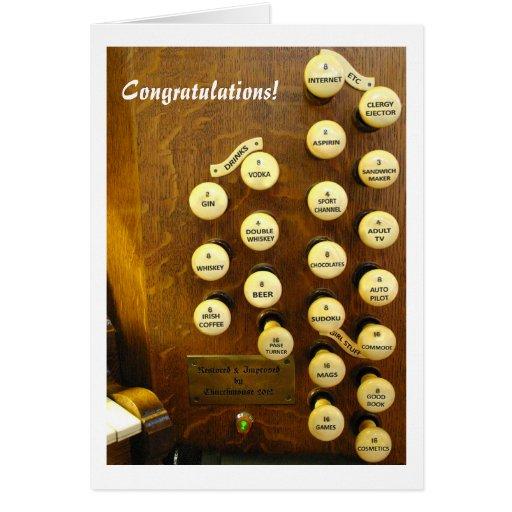 My ideal organ Congratulations card