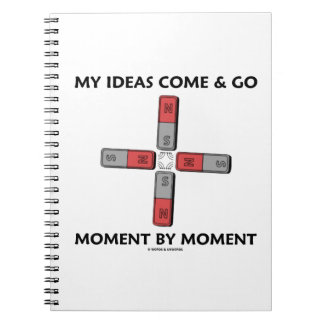 My Ideas Come And Go Moment By Moment Four Magnets Spiral Notebook