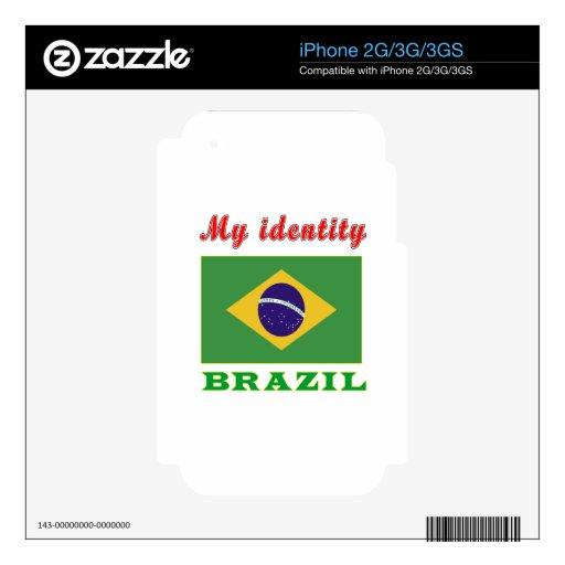 My Identity Brazil iPhone 2G Decals