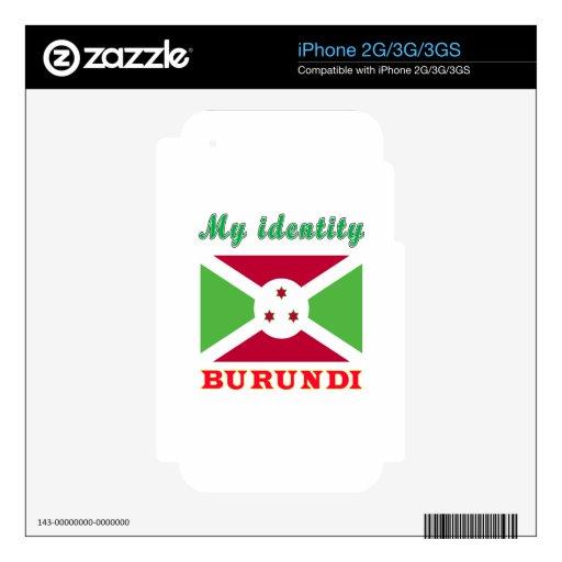 My Identity Burundi Decal For iPhone 2G