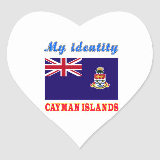 My Identity Cayman Islands Heart Stickers