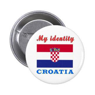 My Identity Croatia Pinback Button