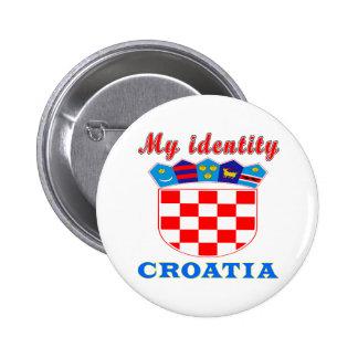 My Identity Croatia Pinback Buttons