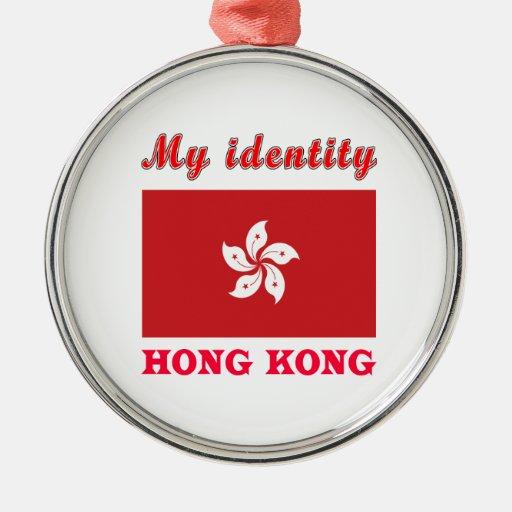 My Identity Hong Kong Round Metal Christmas Ornament