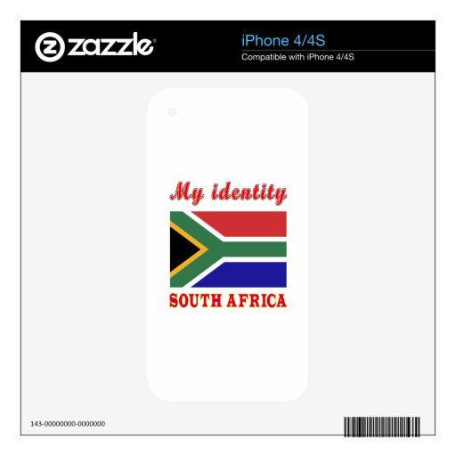 My Identity South Africa Skins For The iPhone 4