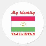 My Identity Tajikistan Round Sticker