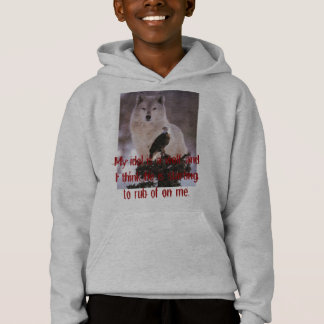 My idol is a wolf and I think h... Hoodie