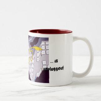 My iLaptop Dog Two-Tone Coffee Mug