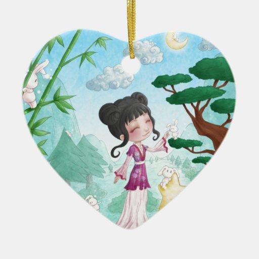 My imaginary adorno de cerámica en forma de corazón