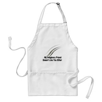 My imaginary friend adult apron