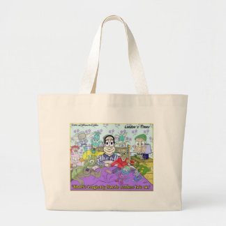My Imaginary Friends Funny Gifts & Collectibles Large Tote Bag