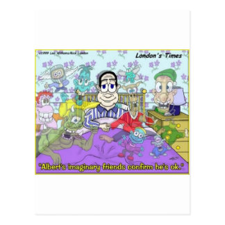 My Imaginary Friends Funny Gifts & Collectibles Postcard