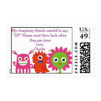 My imaginary friends postage (personalize)
