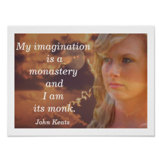 My Imagination -- art print --- John Keats