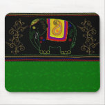 My Indian Elephant - Emerald Mouse Pads