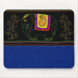 My Indian Elephant - Sapphire Mouse Pads