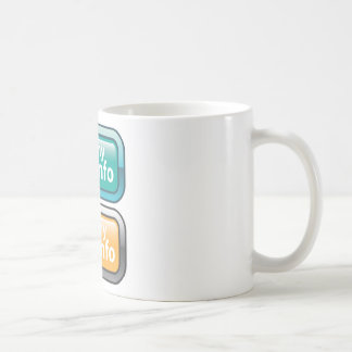 My Info Button Vector Coffee Mug