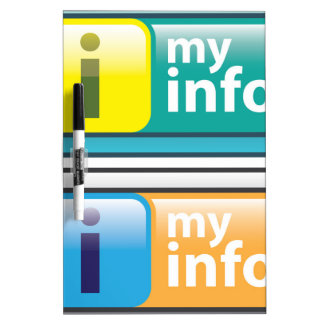 My Info Button Vector Dry Erase Board